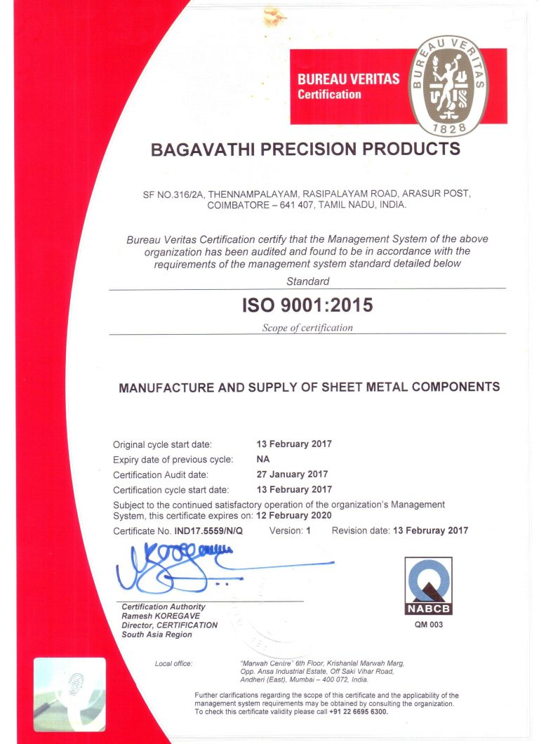 ISO 9001-2015 Certificate